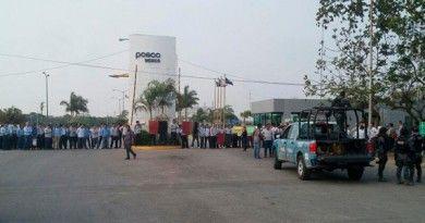 Obreros paralizan Posco