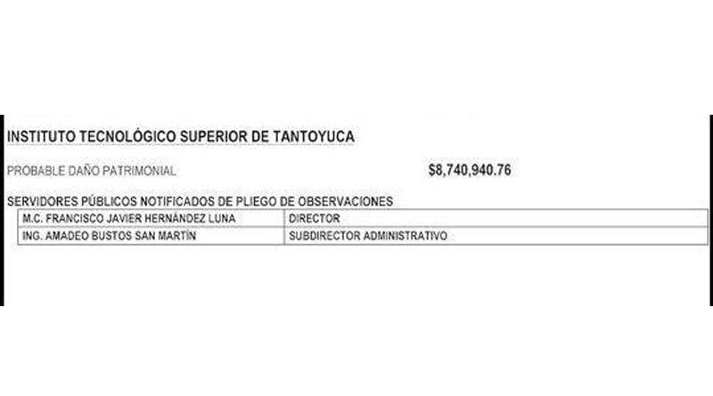 Denuncian desvío de recursos en el Instituto Tecnológico Superior de Tantoyuca