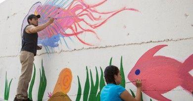 Promueve Municipio Valores a Través de Murales Urbanos