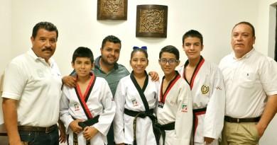 Apoya Gobierno Municipal a taekwondoines altamirens