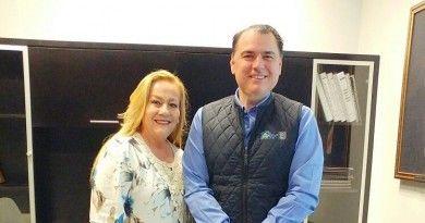 Se reúne Alma Laura Amparán con secretario de Bienestar Social