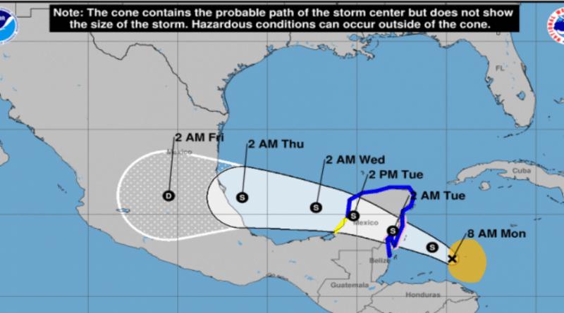 "Alerta en Tamaulipas por tormenta tropical ""Franklin"""