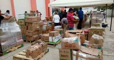 Envia SNTE Tamaulipas 50 toneladas de ayuda a Oaxaca