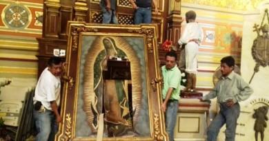 Fanática Religiosa destroza imagen de la Virgen de Guadalupe en Catedral de Tampico