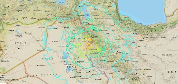 Terremoto de 7.3 grados sacude frontera entre Irak e Irá
