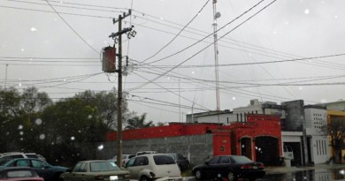 Cae nieve en Nuevo Laredo Tamaulipas