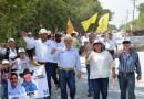 Solidarias muestras de apoyo recibe PePe Ríos en Alfredo V. Bonfil.